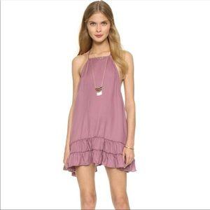 Free People Raven Slip Dress in Dusty Rose